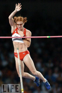 Olympian Stephanie McCann - Olypmc Pole Vaulter in Action Athens 2004 #3